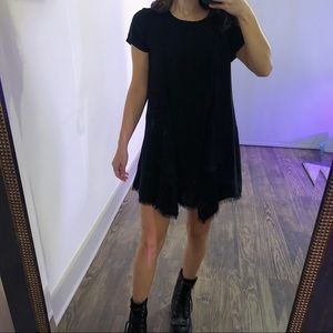 Silence + Noise Urban Outfitters Black Flowy Dress